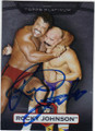 ROCKY JOHNSON AUTOGRAPHED WRESTLING CARD #102714H