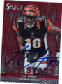 AJ GREEN CINCINNATI BENGALS AUTOGRAPHED FOOTBALL CARD #102814D