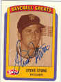 STEVE STONE SAN FRANCISCO GIANTS AUTOGRAPHED BASEBALL CARD #110314B