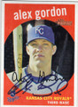 ALEX GORDON KANSAS CITY ROYALS AUTOGRAPHED BASEBALL CARD #110414A