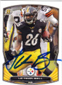 LE'VEON BELL PITTSBURGH STEELERS AUTOGRAPHED FOOTBALL CARD #110514G