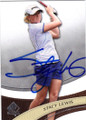STACY LEWIS AUTOGRAPHED GOLF CARD #111014E