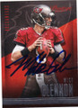 MIKE GLENNON TAMPA BAT BUCCANEERS AUTOGRAPHED FOOTBALL CARD #111014G