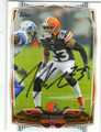 JOE HADEN CLEVELAND BROWNS AUTOGRAPHED FOOTBALL CARD #111114A