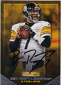 BEN ROETHLISBERGER PITTSBURGH STEELERS AUTOGRAPHED FOOTBALL CARD #111114F