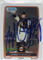 JOSEPH STALEY SAN FRANCISCO GIANTS AUTOGRAPHED CHROME ROOKIE BASEBALL CARD #111114K
