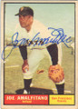JOE AMALFITANO SAN FRANCISCO GIANTS AUTOGRAPHED VINTAGE BASEBALL CARD #112114B