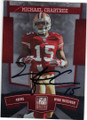 MICHAEL CRABTREE SAN FRANCISCO 49ers AUTOGRAPHED ROOKIE FOOTBALL CARD #112114D