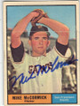 MIKE McCORMICK SAN FRANCISCO GIANTS AUTOGRAPHED VINTAGE BASEBALL CARD #112114G