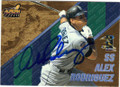 ALEX RODRIGUEZ SEATTLE MARINERS AUTOGRAPHED BASEBALL CARD #112214B