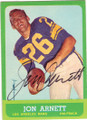 JON ARNETT LOS ANGELES RAMS AUTOGRAPHED VINTAGE FOOTBALL CARD #112314B