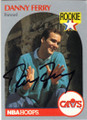 DANNY FERRY CLEVELAND CAVALIERS AUTOGRAPHED ROOKIE BASKETBALL CARD #112314E