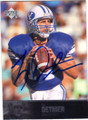 TY DETMER BRIGHAM YOUNG UNIVERSITY AUTOGRAPHED FOOTBALL CARD #112314H