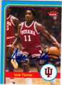 ISIAH THOMAS INDIANA HOOSIERS AUTOGRAPHED BASKETBALL CARD #112414L
