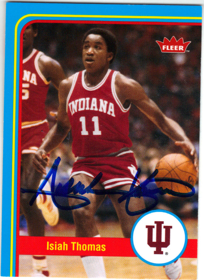 newest collection 9ea4b 2939f ISIAH THOMAS INDIANA HOOSIERS AUTOGRAPHED BASKETBALL CARD #112414L