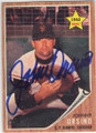 JOHNNY ORSINO SAN FRANCISCO GIANTS AUTOGRAPHED VINTAGE ROOKIE BASEBALL CARD #113014B