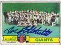JOE ALTOBELLI SAN FRANCISCO GIANTS AUTOGRAPHED VINTAGE BASEBALL CARD #113014M