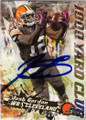 JOSH GORDON CLEVELAND BROWNS AUTOGRAPHED FOOTBALL CARD #120114C