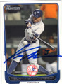 CURTIS GRANDERSON NEW YORK YANKEES AUTOGRAPHED BASEBALL CARD #120114M