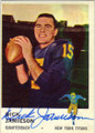 DICK JAMIESON NEW YORK TITANS AUTOGRAPHED VINTAGE FOOTBALL CARD #120114P