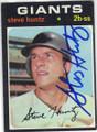 STEVE HUNTZ SAN FRANCISCO GIANTS AUTOGRAPHED VINTAGE BASEBALL CARD #120214L