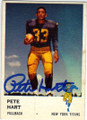 PETE HART NEW YORK TITANS AUTOGRAPHED VINTAGE FOOTBALL CARD #120214O