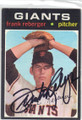 FRANK REBERGER SAN FRANCISCO GIANTS AUTOGRAPHED VINTAGE BASEBALL CARD #120314i