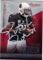 PATRICK PETERSON ARIZONA CARDINALS AUTOGRAPHED FOOTBALL CARD #120314O