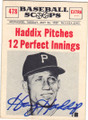 HARVEY HADDIX PITTSBURGH PIRATES AUTOGRAPHED VINTAGE BASEBALL CARD #120514D