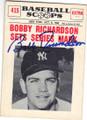 BOBBY RICHARDSON NEW YORK YANKEES AUTOGRAPHED VINTAGE BASEBALL CARD #120514H