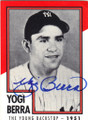 YOGI BERRA NEW YORK YANKEES AUTOGRAPHED BASEBALL CARD #120514O