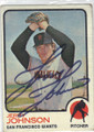 JERRY JOHNSON SAN FRANCISCO GIANTS AUTOGRAPHED VINTAGE BASEBALL CARD #120714N