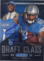 ERIC EBRON DETROIT LIONS AUTOGRAPHED ROOKIE FOOTBALL CARD #120814A