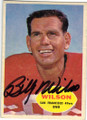 BILLY WILSON SAN FRANCISCO 49ers AUTOGRAPHED VINTAGE FOOTBALL CARD #120814B