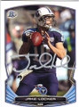 JAKE LOCKER TENNESSEE TITANS AUTOGRAPHED FOOTBALL CARD #120814F