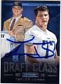 TAYLOR LEWAN TENNESSEE TITANS AUTOGRAPHED ROOKIE FOOTBALL CARD #120814H