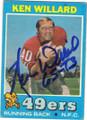 KEN WILLARD SAN FRANCISCO 49ers AUTOGRAPHED VINTAGE FOOTBALL CARD #120814L