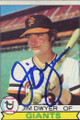JIM DWYER SAN FRANCISCO GIANTS AUTOGRAPHED VINTAGE BASEBALL CARD #120914A