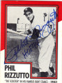 PHIL RIZZUTO NEW YORK YANKEES AUTOGRAPHED BASEBALL CARD #120914J