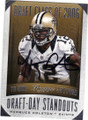 MARQUES COLSTON NEW ORLEANS SAINTS AUTOGRAPHED FOOTBALL CARD #120914L