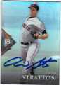CHRIS STRATTON SAN FRANCISCO GIANTS AUTOGRAPHED ROOKIE BASEBALL CARD #121014G