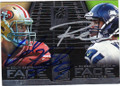 COLIN KAEPERNICK & RUSSELL WILSON SAN FRANCISCO 49ers AND SEATTLE SEAHAWKS DOUBLE AUTOGRAPHED FOOTBALL CARD #121114F