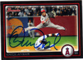 ERICK AYBAR LOS ANGELES ANGELS OF ANAHEIM AUTOGRAPHED BASEBALL CARD #121114K