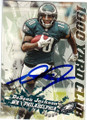 DeSEAN JACKSON PHILADELPHIA EAGLES AUTOGRAPHED FOOTBALL CARD #121114L