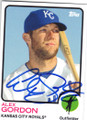 ALEX GORDON KANSAS CITY ROYALS AUTOGRAPHED BASEBALL CARD #121314N