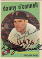 DANNY O'CONNELL SAN FRANCISCO GIANTS AUTOGRAPHED VINTAGE BASEBALL CARD #121514D
