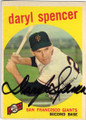 DARYL SPENCER SAN FRANCISCO GIANTS AUTOGRAPHED VINTAGE BASEBALL CARD #121514J