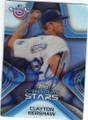 CLAYTON KERSHAW LOS ANGELES DODGERS AUTOGRAPHED BASEBALL CARD #121614E