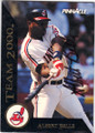 ALBERT BELLE CLEVELAND INDIANS AUTOGRAPHED BASEBALL CARD #121614H