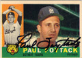 PAUL FOYTACK DETROIT TIGERS AUTOGRAPHED VINTAGE BASEBALL CARD #121814G